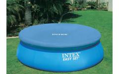 Тент для бассейна с верхним надувным кольцом 244см Intex 28020