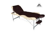 Массажный стол DFC NIRVANA, Elegant PRO, алюм. ножки, цвет коричн. с беж.  (Brown/Beige)