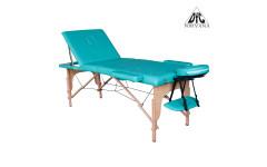 Массажный стол DFC NIRVANA, Relax Pro,  дерев. ножки, цвет зеленый (Green)