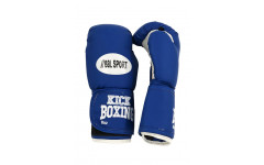 Перчатки для кикбоксинга REALSPORT RS212 12 унций, синий