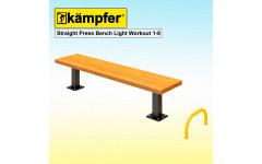 Пресс-скамья Воркаут Kampfer Straight Press Bench Light Workout 1-8