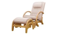 Массажное кресло-качалка EGO TWIST EG-2004 SHIMO Бежевый (TONY12) с пуфом
