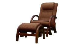 Массажное кресло-качалка EGO TWIST КОФЕ (Рогожка) с пуфом