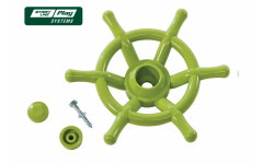 Пластиковый штурвал зеленый